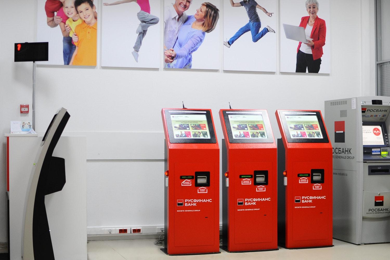 Платежные терминалы TouchPlat для погашения кредитов Русфинанс Банка